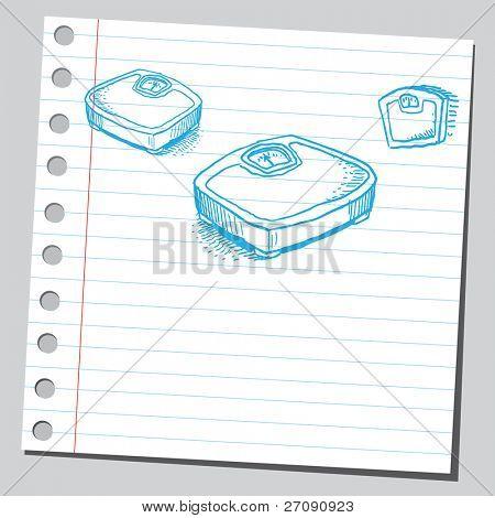 Bathroom scales sketch