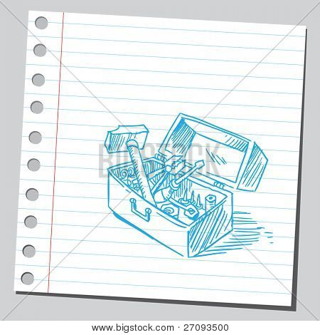 Drawing of a toolbox