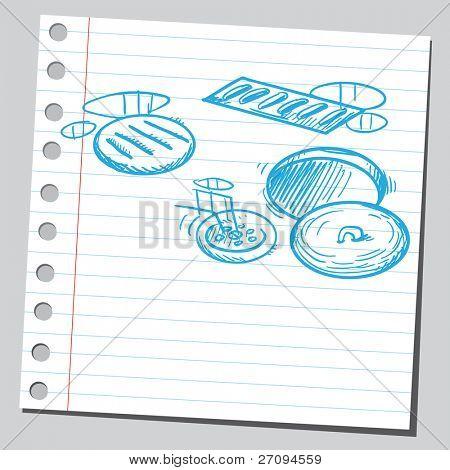Water drains drawing