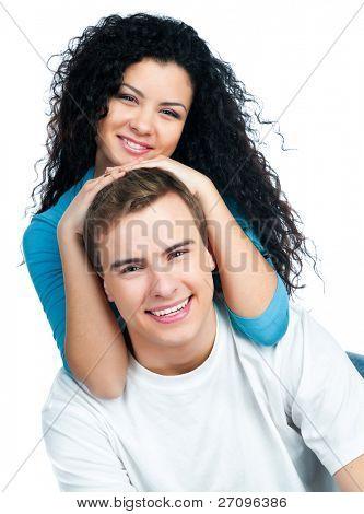 hermosa joven pareja de enamorados
