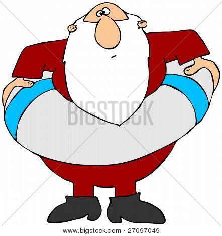 Santa with a life preserver