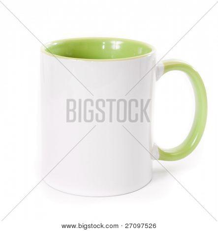 white mug isolatd on a white background