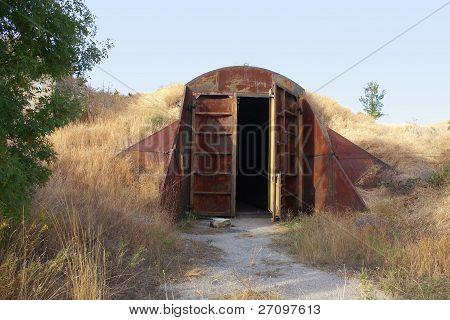 Old Abandoned Missile Base Building
