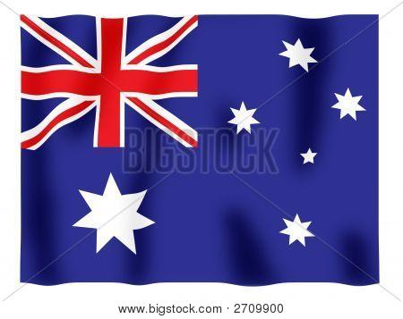 Australien-Flagge flattern