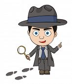 stock photo of crime solving  - Detective investigator - JPG