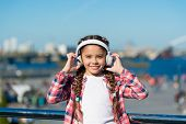 Access To Millions Of Songs. Best Music Apps That Deserve A Listen. Girl Child Listen Music Outdoors poster