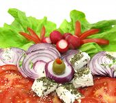 stock photo of grated radish  - Salad with cheese - JPG