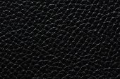 Contrast Leather Background In Black Colour. High Quality Leather Texture. poster