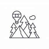 Adventure Line Icon Concept. Adventure Vector Linear Illustration, Symbol, Sign poster