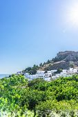 Famous Lindos Town On The Rhodes Island poster