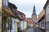 Old Architecture In The Swedish Town Of Ystad,  Skane County. poster