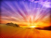 stock photo of sahara desert  - desert landscape - JPG