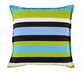Striped pillow. Isolated