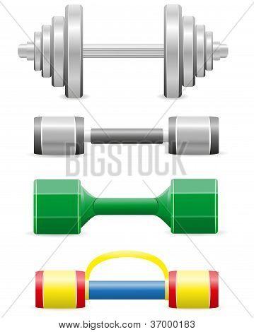Dumbbells For Fitness Vector Illustration