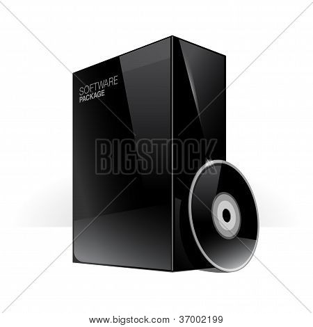 Black Glossy Package Box