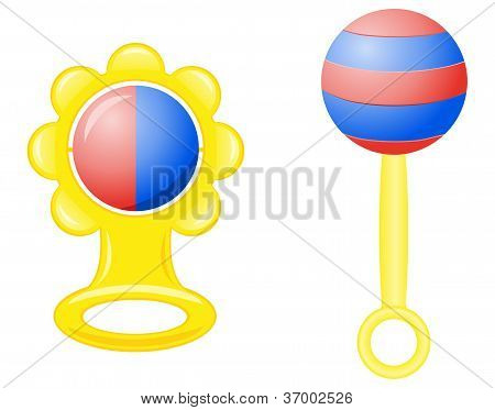 Rattle For A Newborn Vector Illustration
