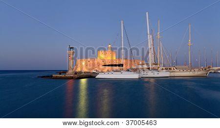 Rhodes Greece At Sunset