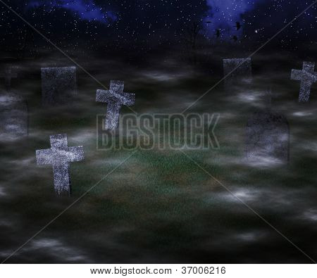 Scary Graveyard Background