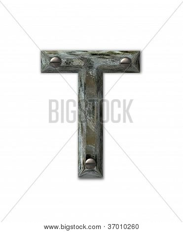 Alphabet Metal Grunge T