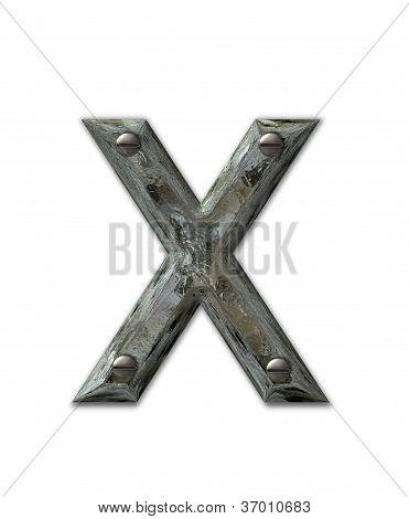 Alphabet Metal Grunge X