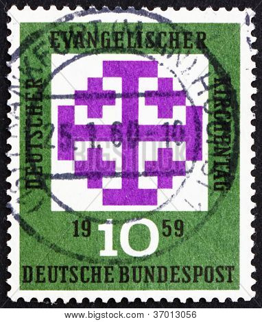 Postage stamp Germany 1959 Synod Emblem, Munich
