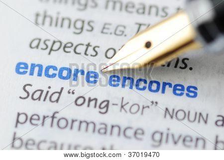 Encore - Dictionary Series