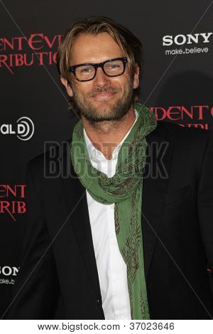 LOS ANGELES - SEP 12: Johann Urb at the LA premiere of 'Resident Evil: Retribution' at Regal Cinemas L.A. Live on September 12, 2012 in Los Angeles, California