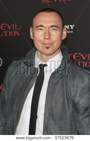 LOS ANGELES - SEP 12: Kevin Durand at the LA premiere of 'Resident Evil: Retribution' at Regal Cinemas L.A. Live on September 12, 2012 in Los Angeles, California