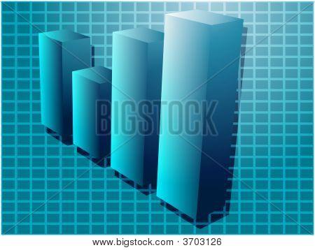 Financial Barchart Illustration