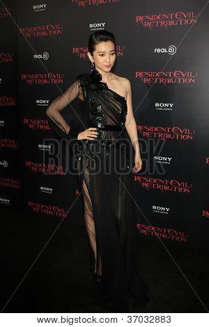 LOS ANGELES - SEP 12:  Li Bingbing arrives at the