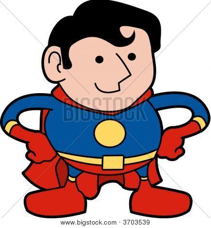 Ilustración de superhéroe