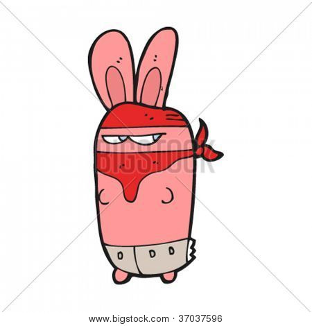 cartoon bandit rabbit