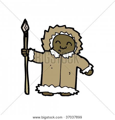 Cartoon eskimo