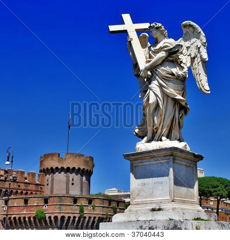 roman landmarks, Sant angello castel and angel