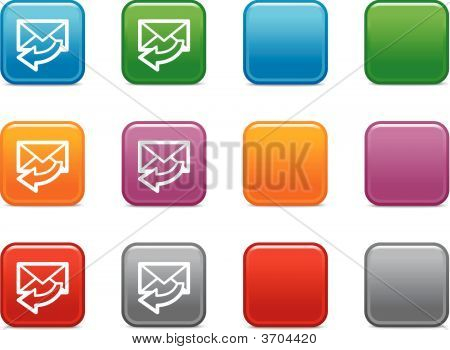 Color Buttons With E-Mail Icon 4