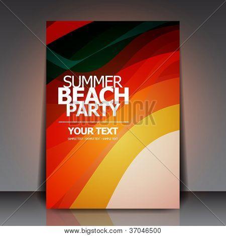 Summer Beach Retro Party Flyer | EPS10 Vector Design