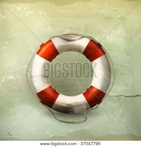 Lifebuoy, old-style vector