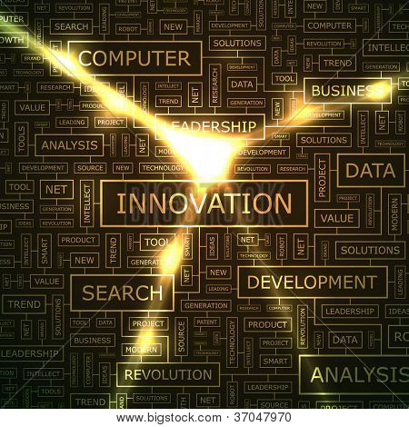 INNOVATION. Abstract vector background.