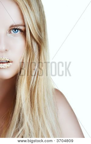 Gold Leaf Woman