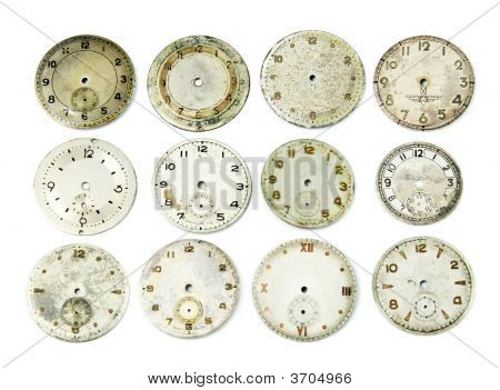 Collection Of Antique Watch Faces