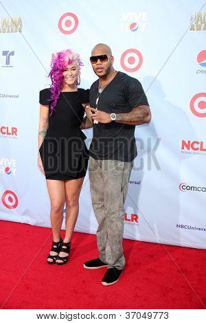 LOS ANGELES - SEP 16:  StayC Reign, Flo RIda arrives at the 2012 ALMA Awards at Pasadena Civic Auditorium on September 16, 2012 in Pasadena, CA