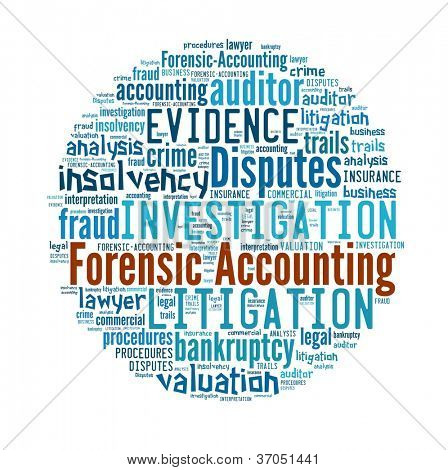 picture or photo of forensic accounting in word collage