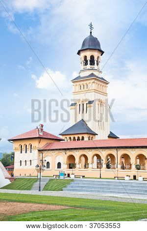The Archiepiscopal Cathedral  was build between 1921-1922. and mark the great union of romanian people from 1918. in Alba Iulia, Transylvania, Romania
