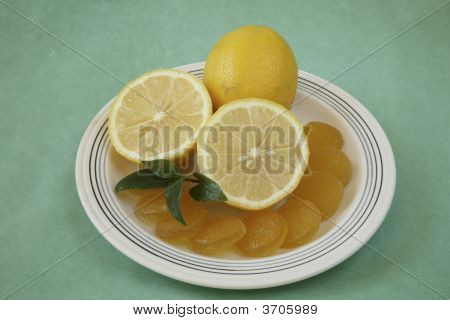 Lemons With Jelly Candies