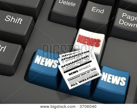 Special Keyboards With Newspaper
