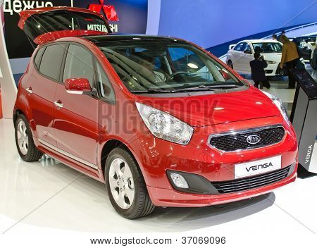 MOSCOW-SEPTEMBER 8: KIA Venga at the Moscow International Motor Show on September 8, 2012 in Moscow, Russia