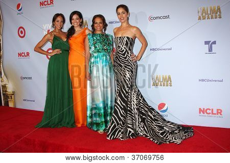 PASADENA - SEP 16: Dania Ramirez, Edy Ganem, Judy Reyes, Ana Ortiz  in the press room during the 2012 NCLR ALMA Awards at Pasadena Civic Auditorium on September 16, 2012 in Pasadena, California