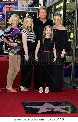 LOS ANGELES - SEP 17: Gary LeVox and family at a ceremony where the band Rascal Flatts receive a star on the Hollywood Walk of Fame on September 17, 2012 in Los Angeles, California