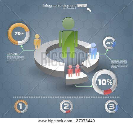 3d infographics  IT. vector web design template