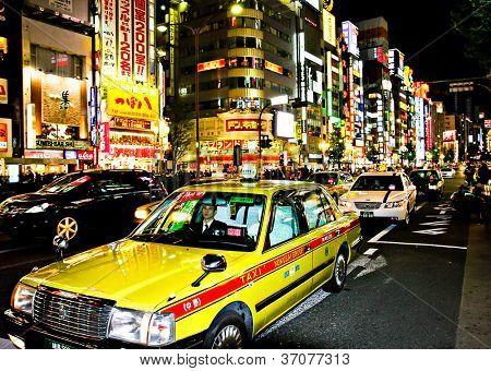 SHINJUKU, TOKYO - NOVEMBER 23:  The neon lights of Shinjuku are a major attraction in Tokyo on November 23, 2008 in Tokyo, Japan